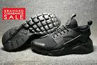 BNIB New Men Nike Air Huarache Run Ultra SE PREM Triple Black Size 10 uk Euro 45