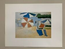 NICOLAS DE STAEL,'LE LAVANDOU, FIGURE ON THE BEACH, 1952' RARE 1992 ART PRINT