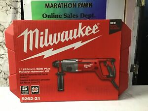 Milwaukee 5262-21 1 in. SDS D-Handle Rotary Hammer 2.1 ft. - lbs. impact energy.