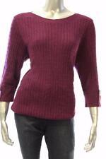 New Women's #2295 Karen Scott Purple Passion Marble Sweater Size XL