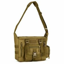 Huntvp Tactical Crossbody Messenger Bag Molle Large Laptop Pack Haversack Zipper