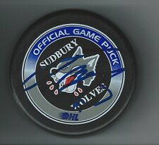 John McFarland Signed Sudbury Wolves Official Game Puck Florida Panthers