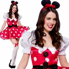 Sexy Mouse Outfit Ladies MinNie Mouse Fancy Dress Costume Fairytale UK 6/24