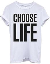 Choose Life T Shirt Wham 80s Retro Fancy Dress White T-Shirt T Shirt Tee S-3XL