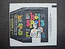 1967 FLEER *HOT SPOTS IRON-ONS* WAX WRAPPER **RARE**