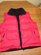 Cabelas PREMIER GOOSE DOWN PUFFER Vest Jacket (Youth Large) Black/Red