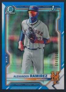 2021 BOWMAN CHROME BLUE REFRACTOR ALEXANDER RAMIREZ RC /150 #BCP-208