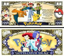 POKEMON Novelty Dollar Bill with a Soft Polly Sleeve