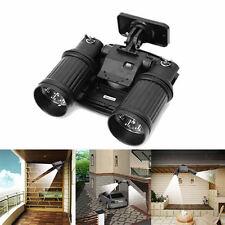 Dual Head LED Solar PIR Activated Security Light Floodlight Spotlight Adjustable