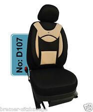 DODGE Sitzbezüge Schonbezüge Sitzbezug Fahrer & Beifahrer D107 Schwarz-Beige