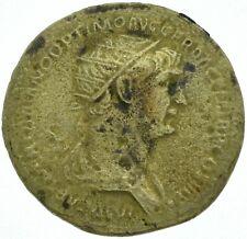 TRAIAN 98-117AD / DUPONDIUS / SENATUS POPULUSQUE ROMANUS / VF / ROME MINT