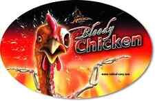 Aufkleber Bloody Chicken 14,5cm 9,5cm Quantum Radical Karpfen Carp