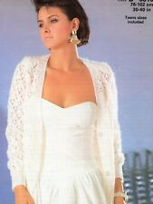 "#435 LADIES DK LACE CARDIGAN 30-40""  VINTAGE KNITTING PATTERN"