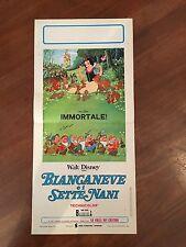 LOCANDINA,Biancaneve e i sette nani Snow White and the Seven Dwarfs,WALT DISNEY