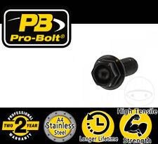 ProBolt Hex Bolt - A4 Stainless Steel - M8 x 1.25 x 20mm - Black for Moto Guzzi