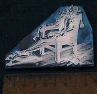 KÖNIG PRINZ Galvano Druckplatte Klischee Eichenberg printing plate copper print