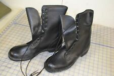 USA military work boots leather black dated 1977 size 12 1/2 N ro-search
