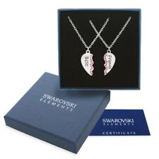 Collane argento Swarovski Element originale G4Lov cristalli cuore migliore amica