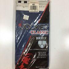 NOS New Vtg 1987 Jockey CLASSIC Brief Men's Navy Blue Y FRONT FLY Underwear 40