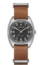 Hamilton Khaki Aviation Pilot Pioneer Mechanical Black Dial Men Watch H76419531
