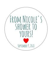 Personalized Baby or Bridal Shower stickers/ favor tags. From my shower to yours