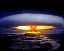 "Mururoa atoll Nuclear Bomb Atomic Blast 8""x 10"" Photo 106"