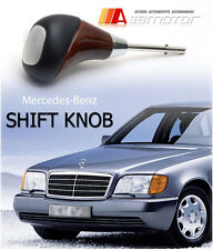Mercedes W140 S Class Shift Knob Mahogany Finish Brushed Aluminum S320 S420 ska5