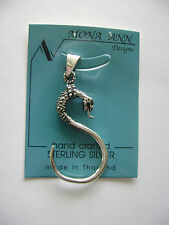 Sterling Silver Snake Serpent Pendant New