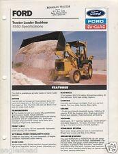 Equipment Brochure - Ford - 455D - Tractor Loader Backhoe - Specs - 1992 (E1146)