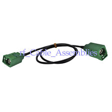 Antenna Extension Cable Fakra E green jack to female pigtail 10ft for Car DVB-T