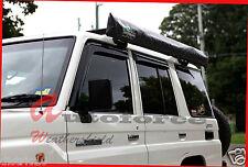 TOYOTA LANDCRUISER 75/76 SERIES 4 DOOR WEATHER SHIELD WINDOW VISOR 70 79 UTE