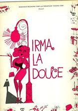 Irma La Douce souvenir theatre program Juliet Prowse Larry Kert Johnny Haymer
