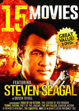 15 Movies: Featuring Steven Seagal and Chuck Norris (DVD, 2014, 3-Disc Set) NEW