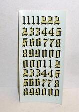 Vintage 1960's RUSSKIT BLACK NUMBER DECAL SHEET-ORIGINAL #7123