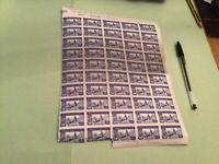 Spain 1944 stamps part sheet  stains & Damage  sent folded  Ref 51061