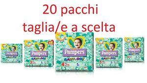 PANNOLINI PAMPERS BABY DRY 20 PACCHI TAGLIA A SCELTA 2-3-4-5-6 ASSORTIBILI