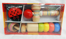 Box of Four Traditional Wooden Toys - BNIB