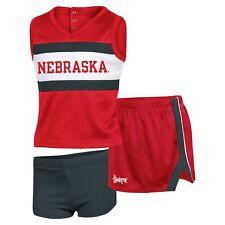 NCAA Newborn/Toddler Girls' Sideline 3pc Cheer Set Nebraska Cornhuskers 18m