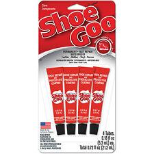 (4) tubes per card ~ Shoe GOO Mini Tubes ~ Clear ~ Original Formula  NEW Stock!