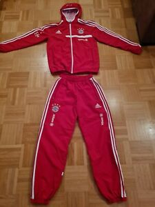 FC Bayern München matchworn Präsentationsanzug Trainingsanzug FCB Adidas Sponsor