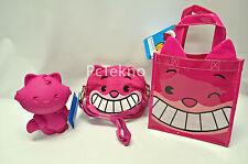 Disney Store Cheshire Cat MXYZ Convertible Bag, Reusable Tote & Pencil Case Set