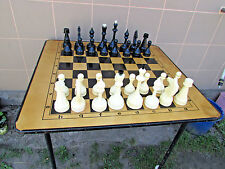 """Game set """"table, checkers, chess"""" Berdyansk USSR.  board size 100cm x 90cm"""