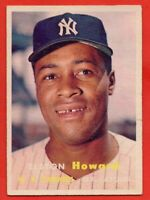 1957 Topps #82 Elston Howard GOOD+ TEAR WRINKLE New York Yankees FREE SHIPPING