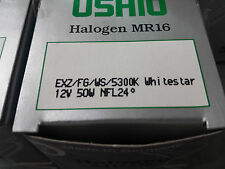 Halogen Light Bulb, USHIO, MR-16, 12V/50W, EXZ/FG/WS, 5300K, Whitestar, 5 Pcs
