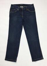 Dolce Gabbana jeans capri donna usato slim skinny denim blu w26 tg 40 stretch