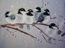 LAURA ASHLEY - Winter Birds - Steel - DOUBLE duvet cover set - NEW