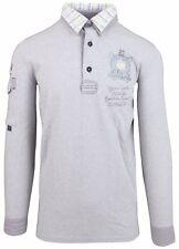 VAN SANTEN & VAN SANTEN Sweatshirt Shirt Polo Größe L 100% Baumwolle Grau Gray