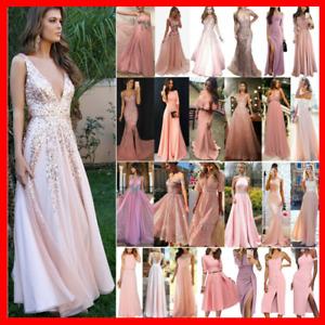 Damen Maxikleid Abendkleid Partykleid Hochzeit Formal Brautjungfer Ballkleider