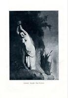 Andromeda XL Kunstdruck 1906 Opfer Jungfrau gefesselt Mythologie Akt BDSM