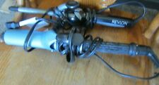 "Lot of 2 Revlon 1/2"" Barrel Curling Iron Blue 1 1/2 inch Curling Iron"